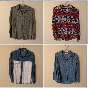Flannels & Button-Ups (4)